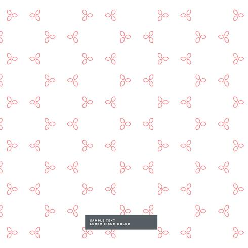 cute minimal flower pattern background