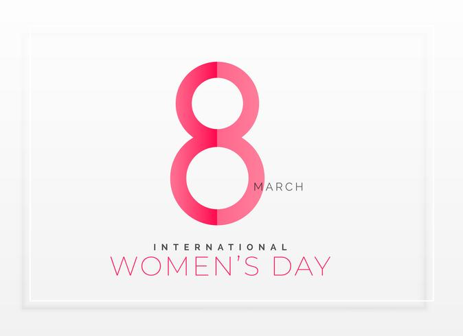 minimal clean happy women's day background