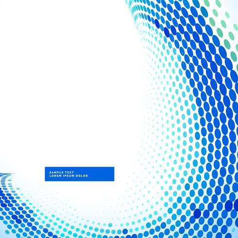 stylish blue halftone wave background