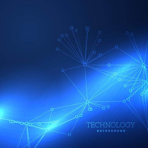 blue technology background design