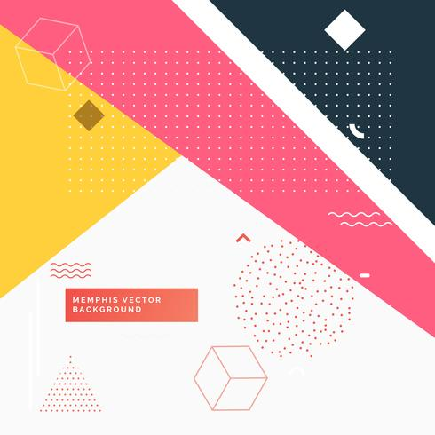 colorful abstract geometric memphis background