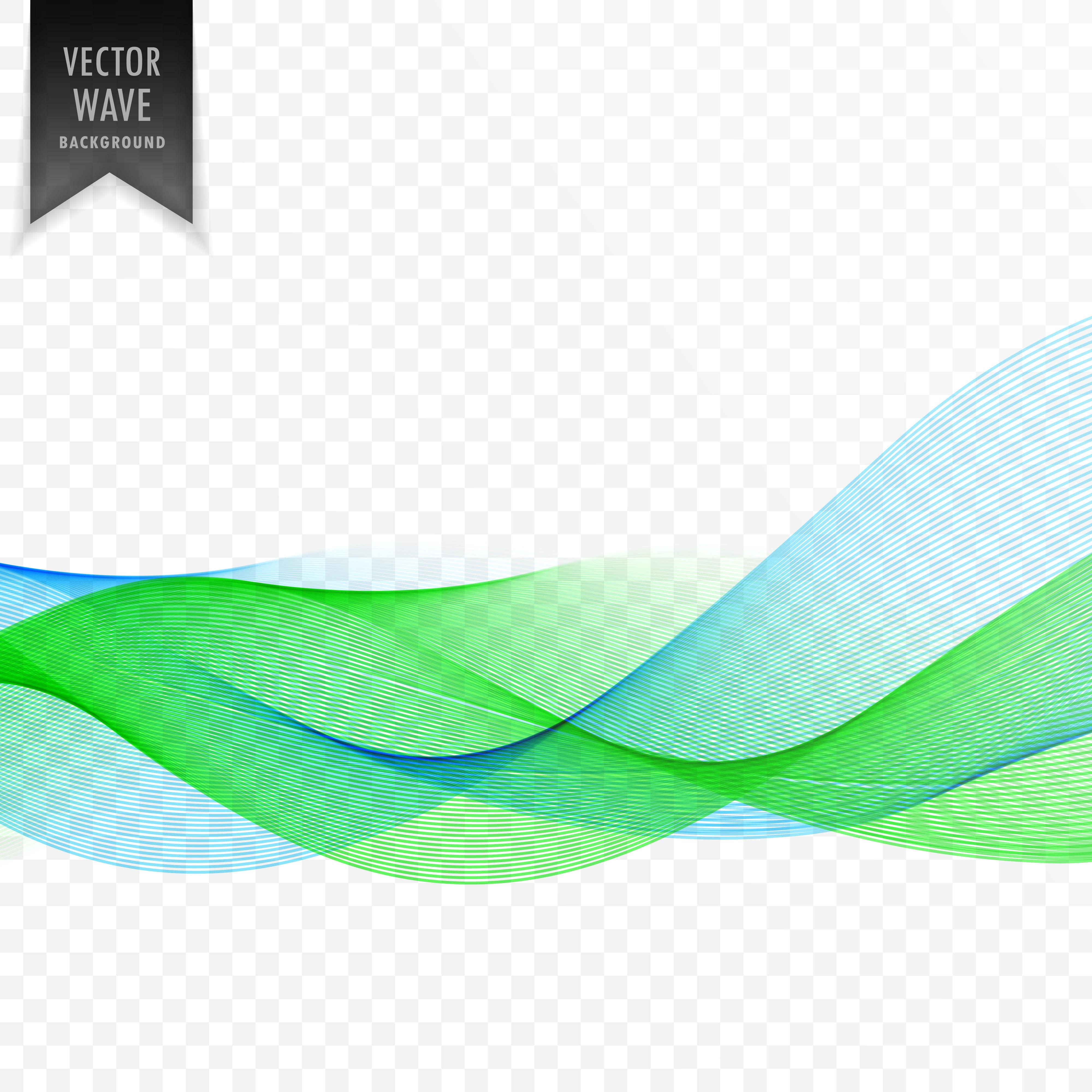 Green Wave Free Vector Art