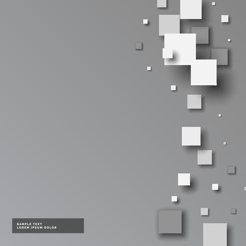 fundo cinza com pequenos quadrados em estilo 3d