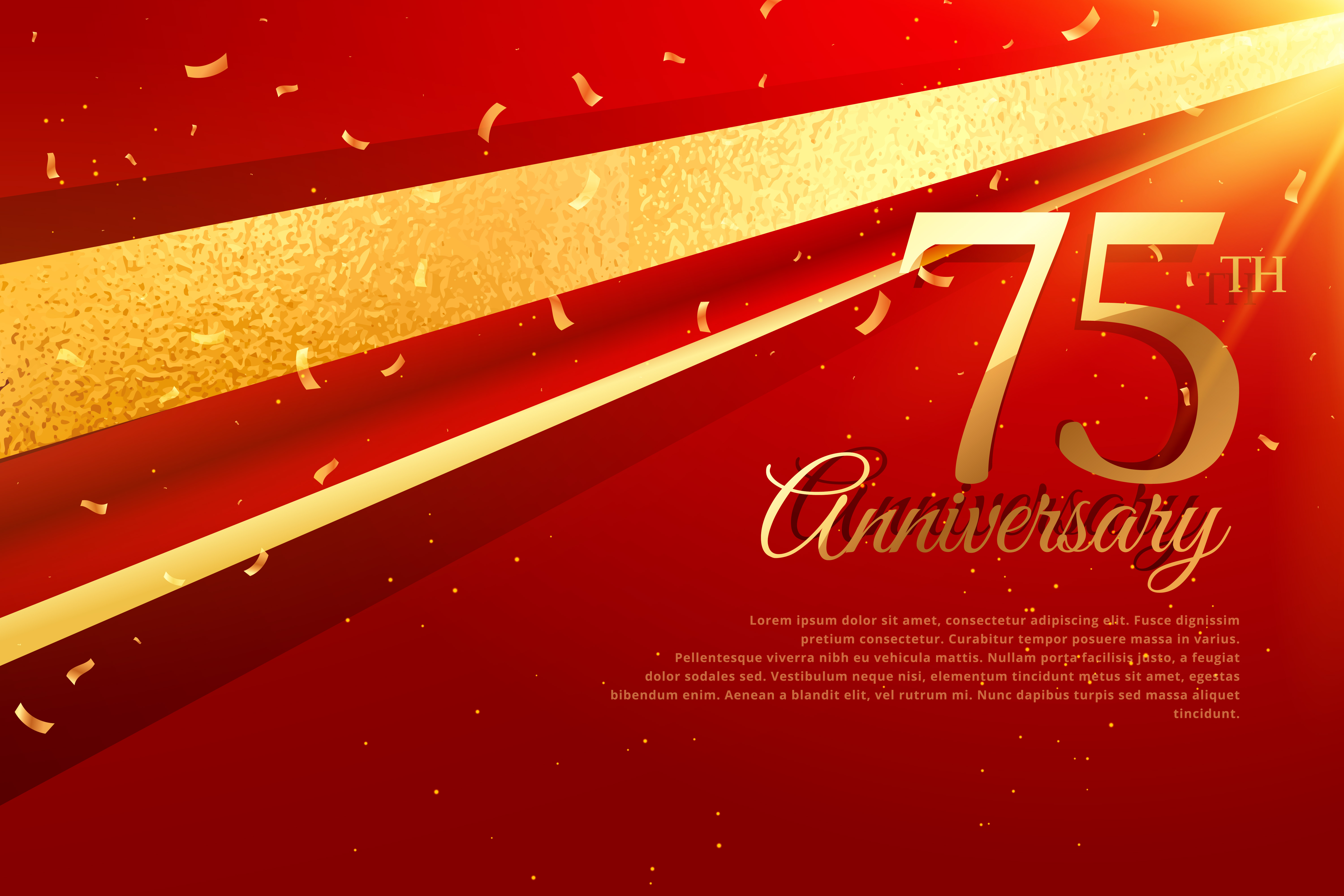 75th Anniversary Celebration Card Template Download Free