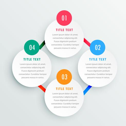four steps infographic template
