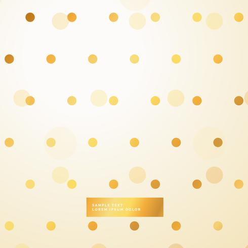 golden polka dots beautiful background