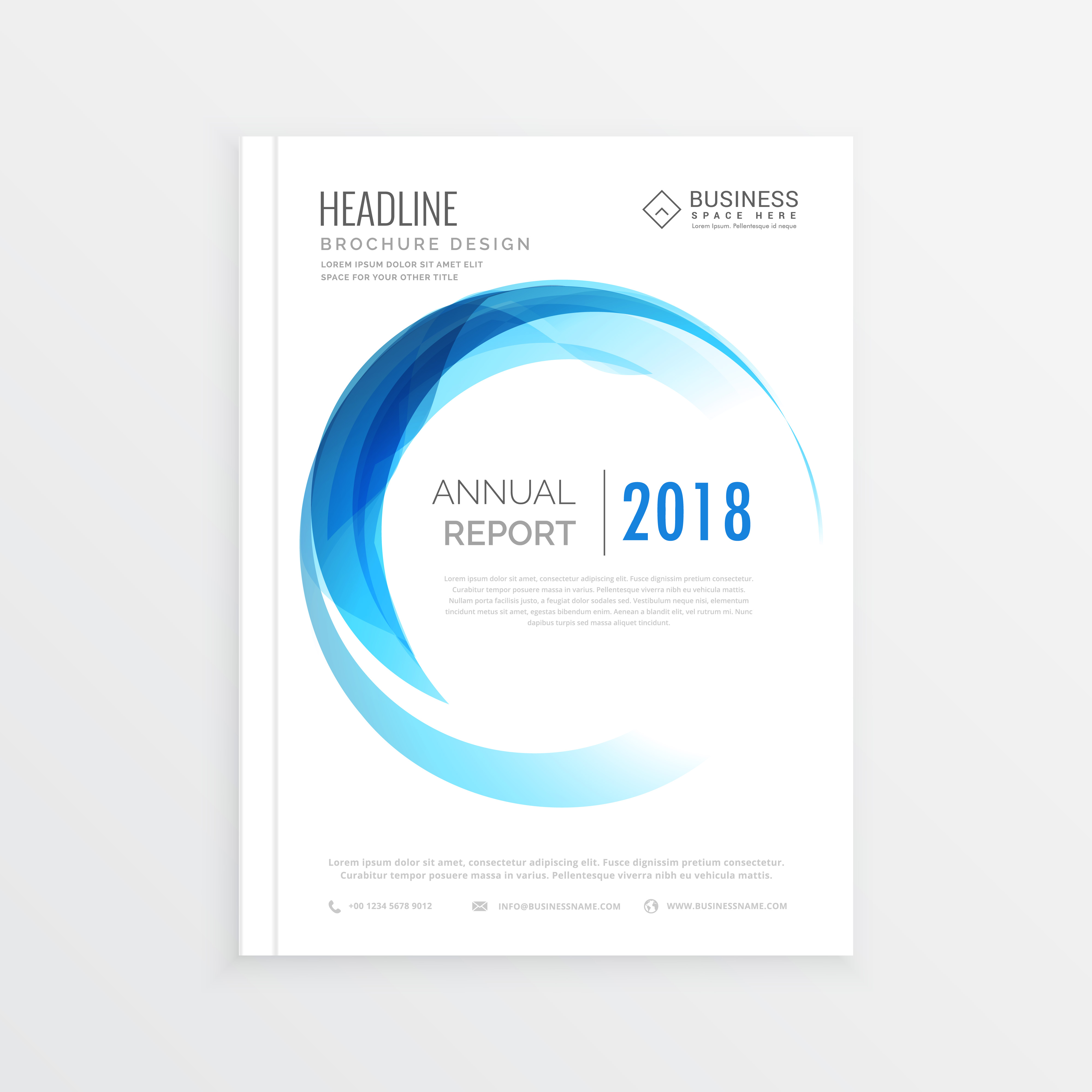 minimal annual report cover  business brochure design in