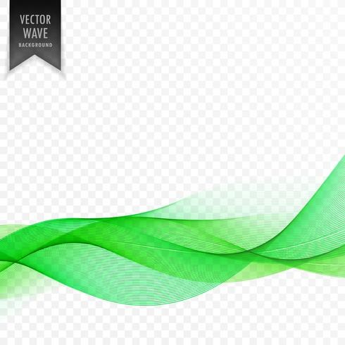green abstract wave elegant background