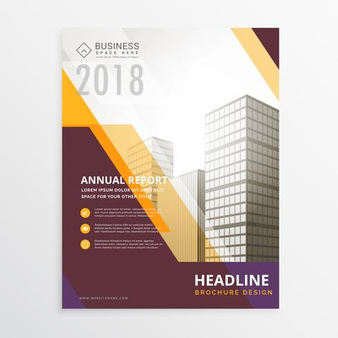 annual report business flyer poster brochure design template