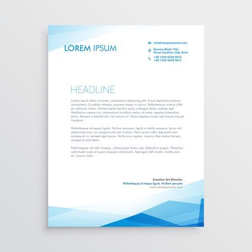elegant blue letterhead template design