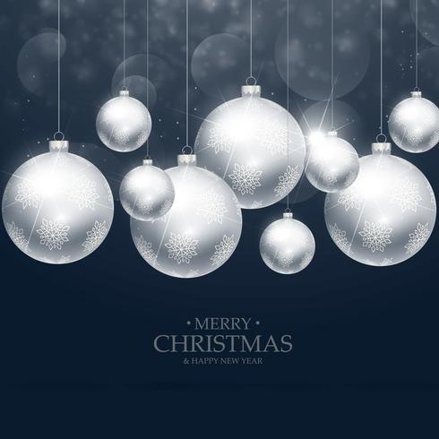 beautiful christmas balls decoration on blue background