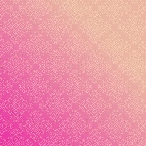 pink background with floral ornamental