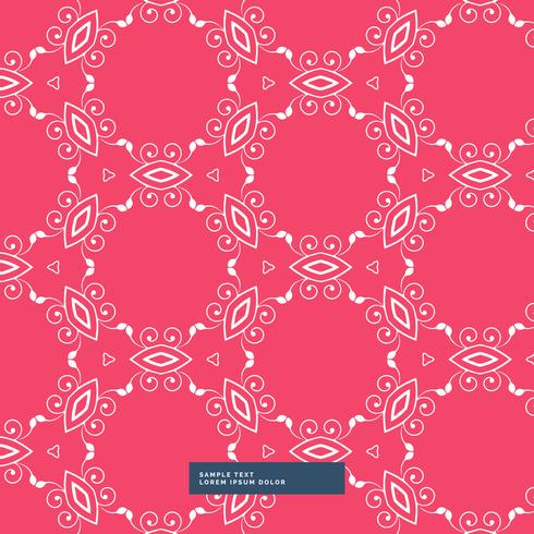 red background with floral pattern