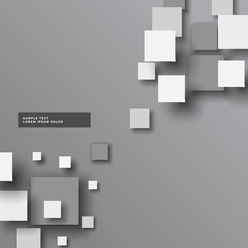 abstract gray 3d squares vector background