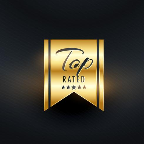 top rated golden label design