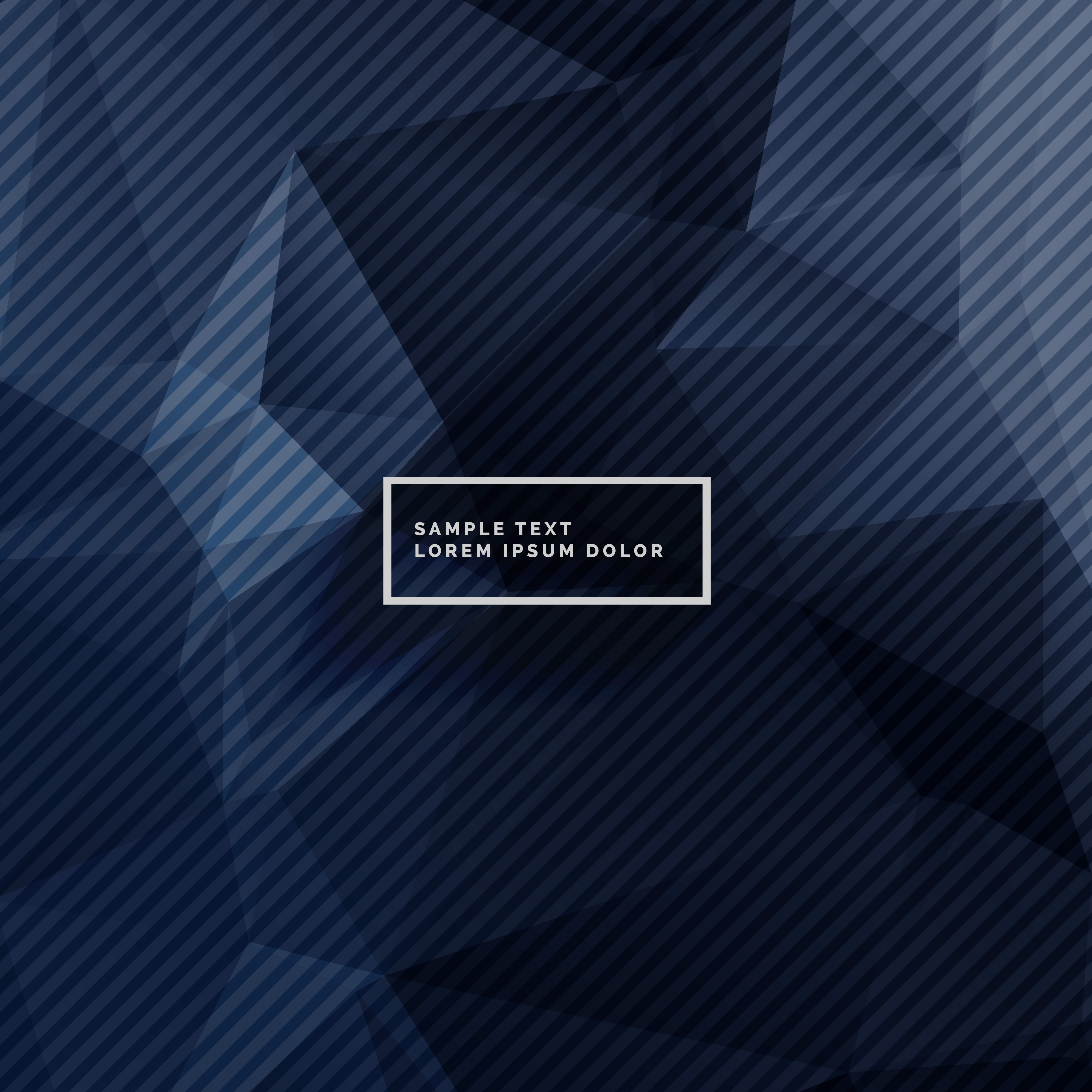 Dark Blue Background With Abstract Shapes