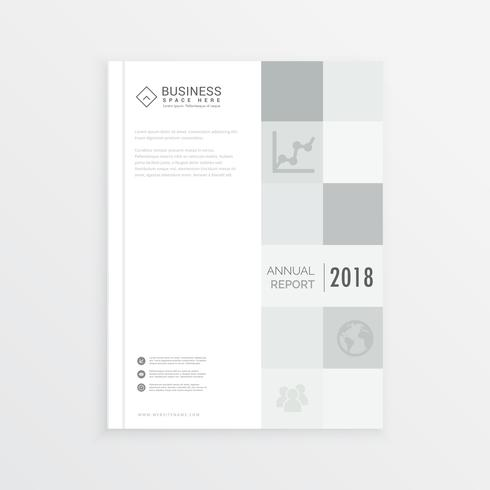 business annual report magazine cover design in A4 size with gra