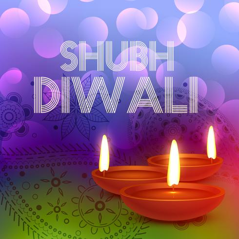 colorful happy diwali greeting card