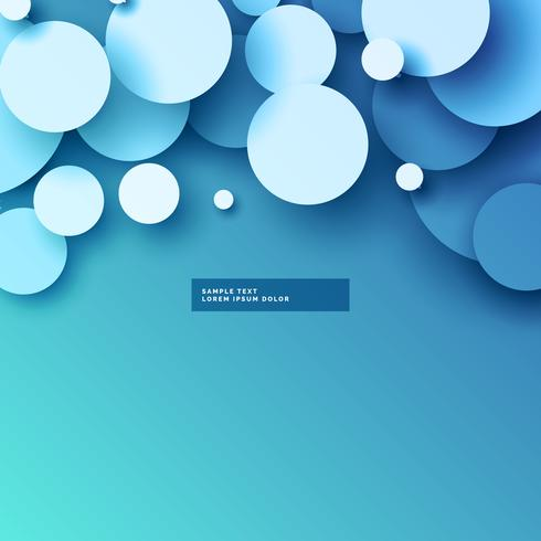 blue background with 3d circles design