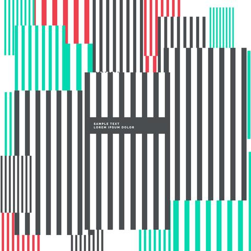 abstract geometric vertical lines background in three colors