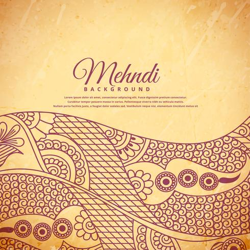 vintage henna mehndi background