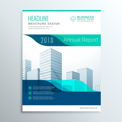 Modern Blue Annual Report Brochure Flyer Template Design For You  Annual Report Template Design