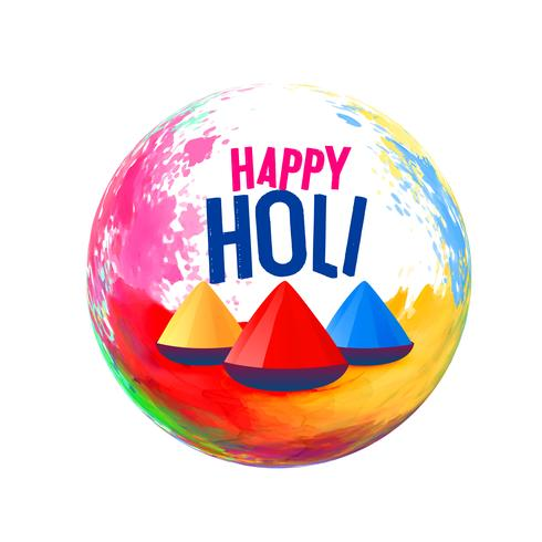 happy holi festival greeting design background