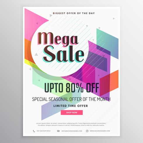 elegant  modern sale discount voucher template