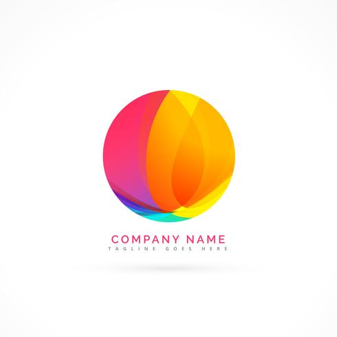 abstract colorful circle element