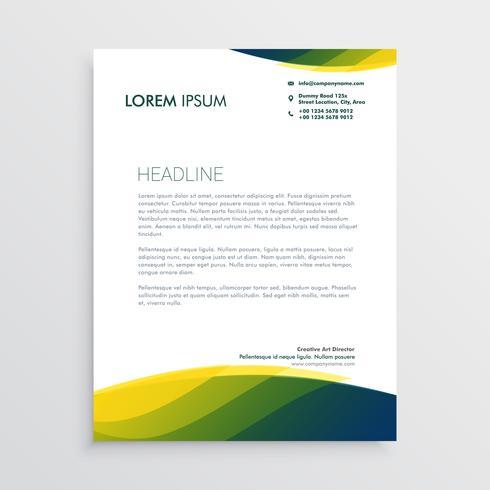 disegno vettoriale di carta intestata professionale