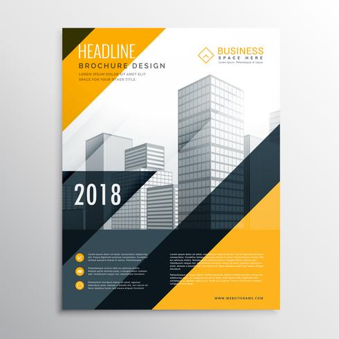 yellow and black business brochure design template