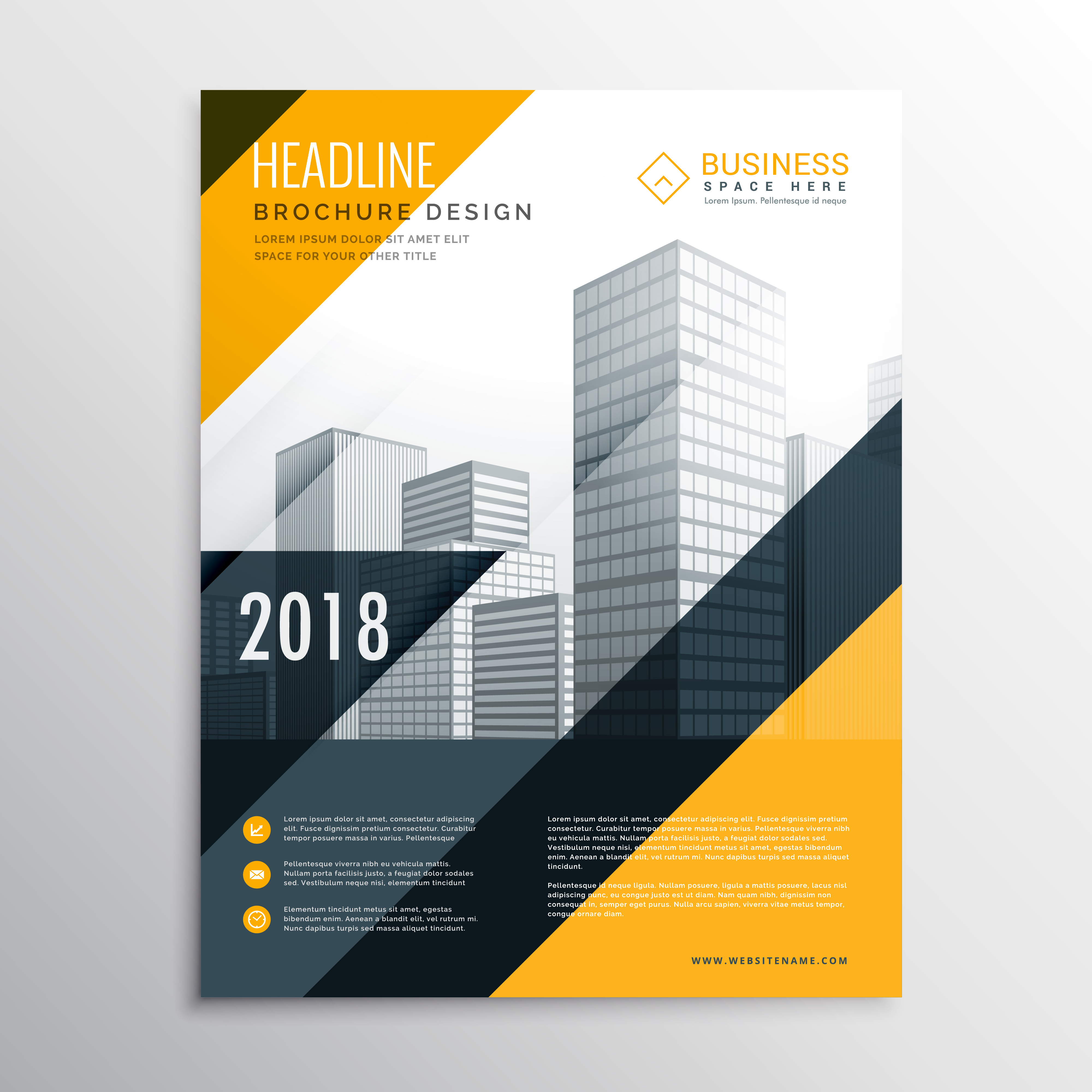 Yellow And Black Business Brochure Design Template Download Free