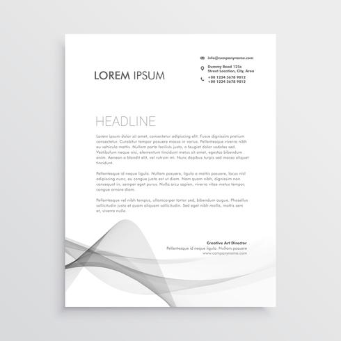 abstract professional letterhead design template
