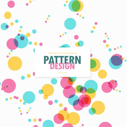colorful transparent circles dots celebration background