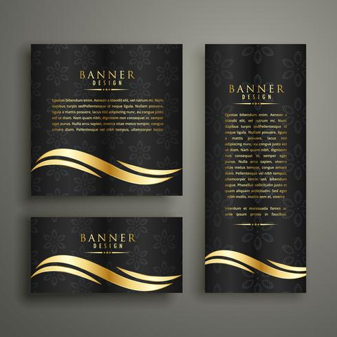 Premium Luxus golden Bannervorlage Design