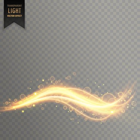 wavy shimmer golden light effect background