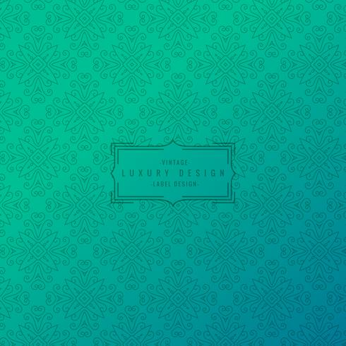 turquoise background with ornamental pattern