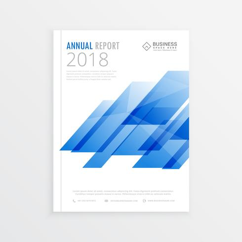 annual report mockup template page, brochure design with abstrac