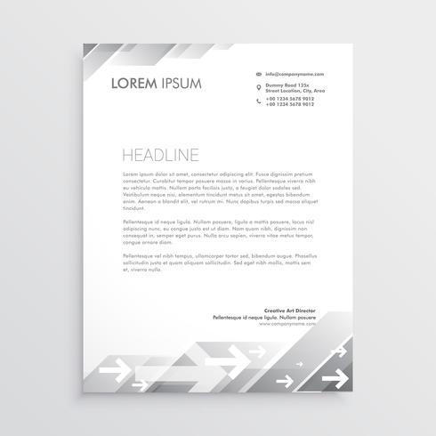 clean gray letterhead design template