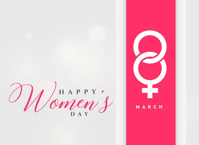 8th march international women's day celebration background