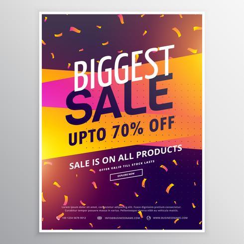 creative biggest sale discount voucher design