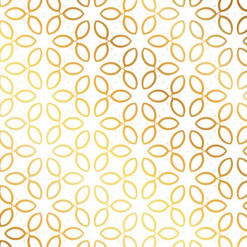 Golden flower pattern background. Flower pattern
