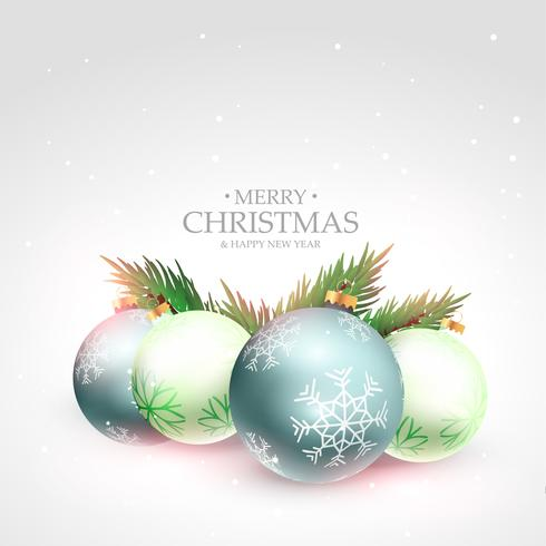 beautiful merry christmas festival greeting background with xmas ...