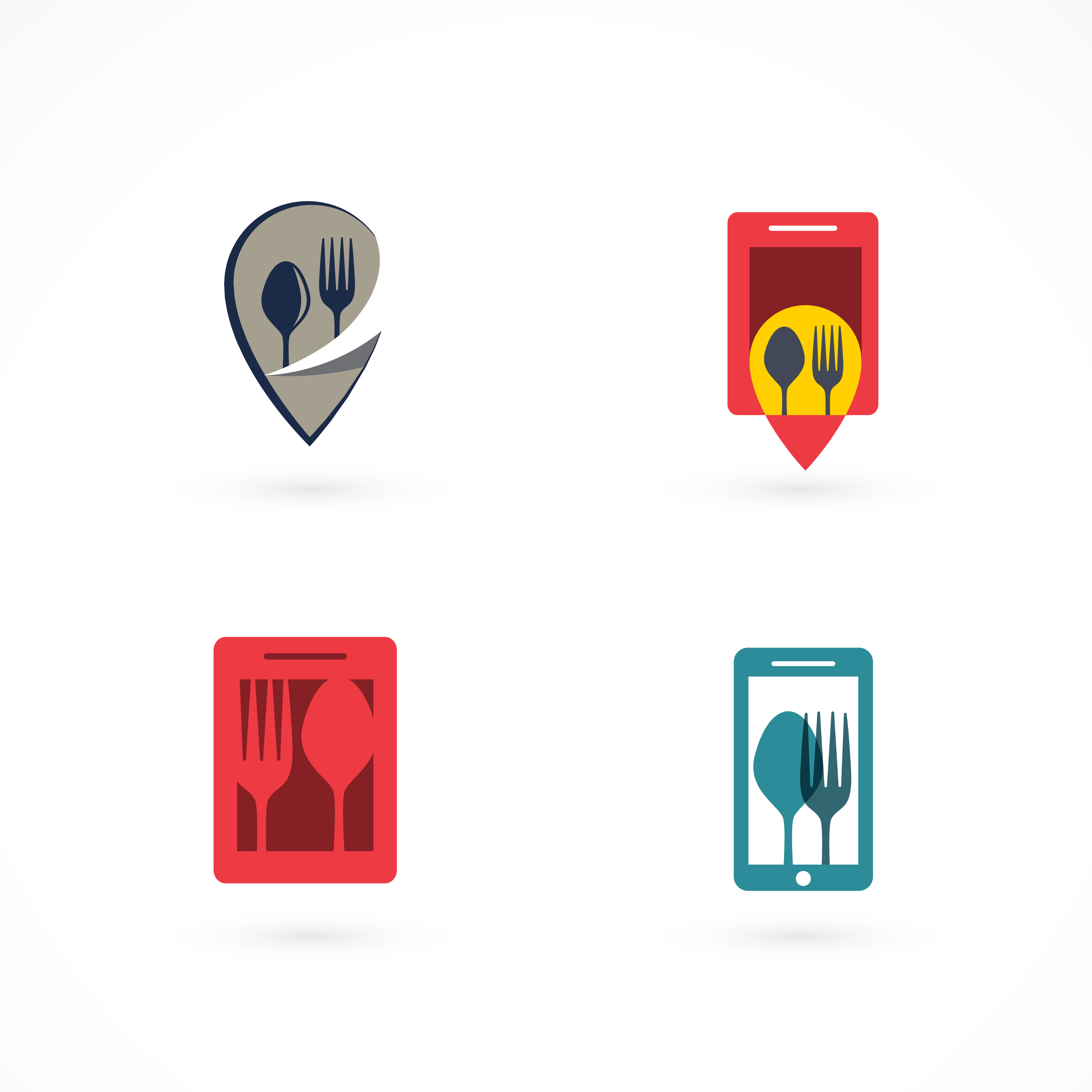 set of fork and spoon logos download free vector art
