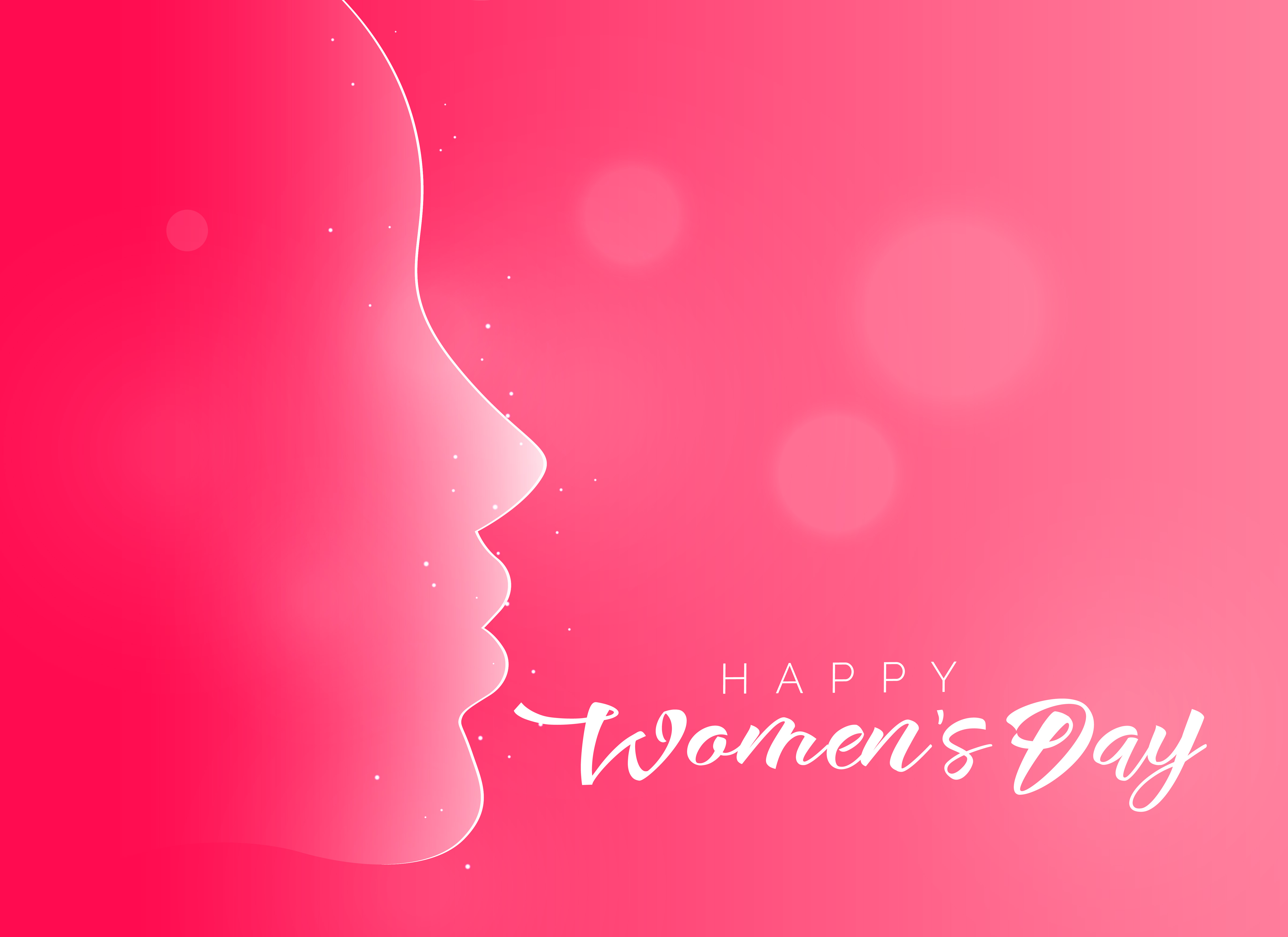 lovely pink happy women 39 s day background download free vector art stock graphics images. Black Bedroom Furniture Sets. Home Design Ideas