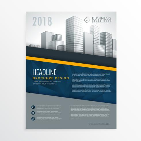 blue annual report brochure cover page design leaflet template i