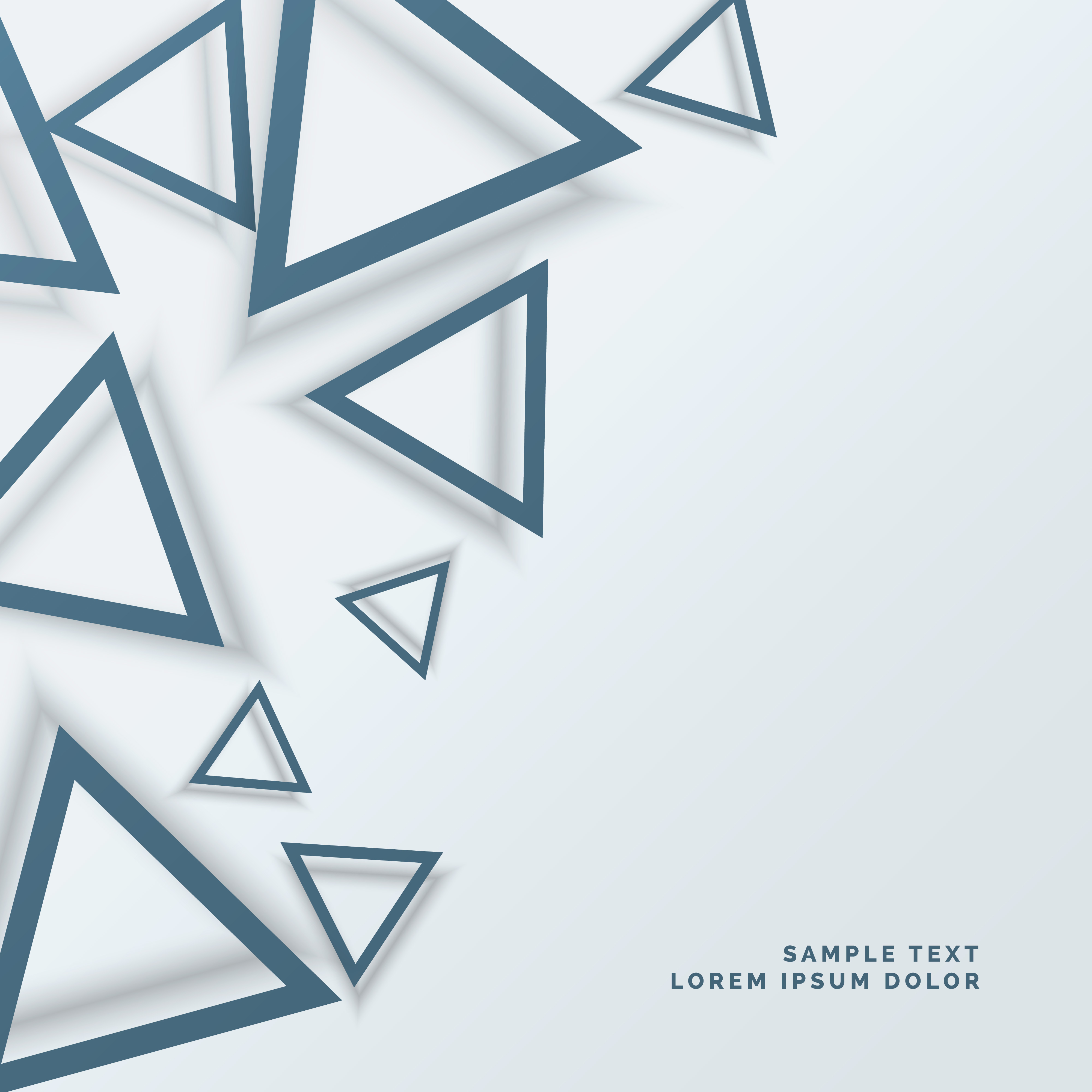 abstract triangle background design - Download Free Vector ...