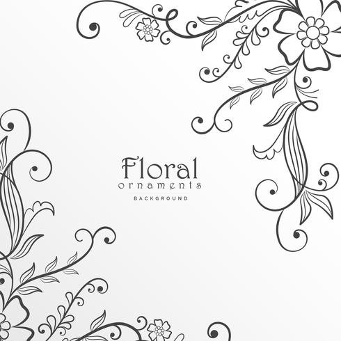stylish modern floral background design