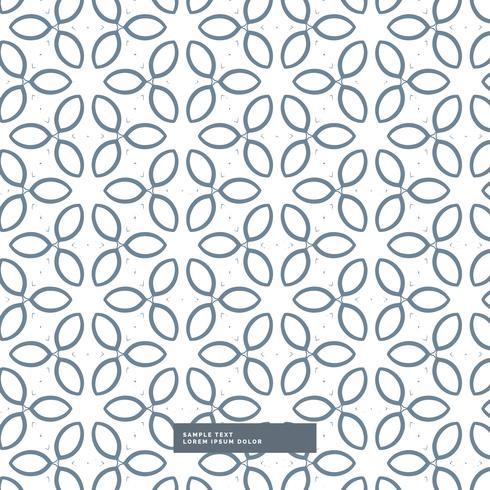 cute line flower pattern background