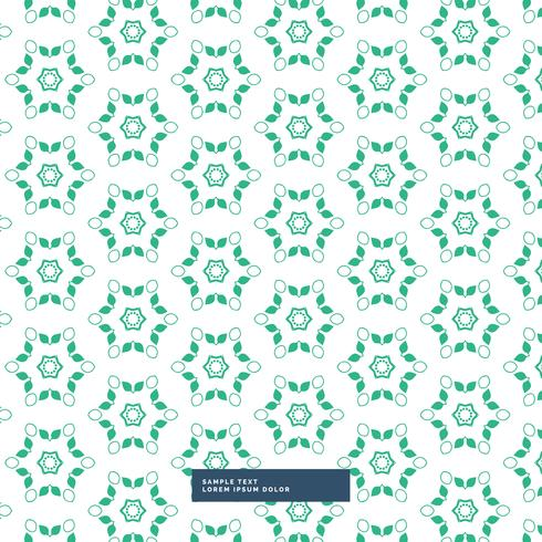 green flower pattern background